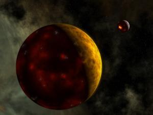 Artist's Concept of a Young, Turbulent Earth by Stocktrek Images