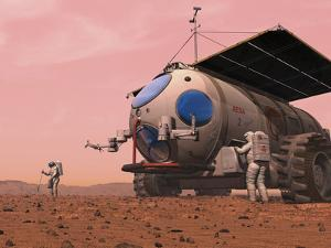 Artist's Concept of How a Martian Motorhome Might Be Realized by Stocktrek Images