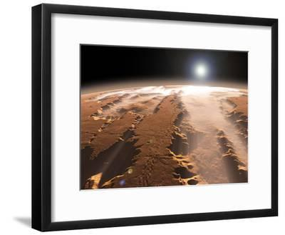 Artist's Concept of the Valles Marineris Canyons on Mars