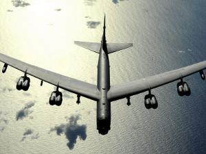 B-52 Stratofortress in Flight over the Pacific Ocean by Stocktrek Images