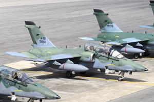 Brazilian Air Force A-1B (Amx) Aircraft Parked at Natal Air Force Base, Brazil by Stocktrek Images
