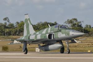 Brazilian Air Force F-5 at Natal Air Force Base, Brazil by Stocktrek Images