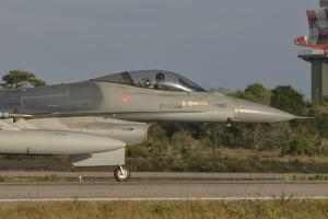 Chilean Air Force F-16 at Natal Air Force Base, Brazil by Stocktrek Images