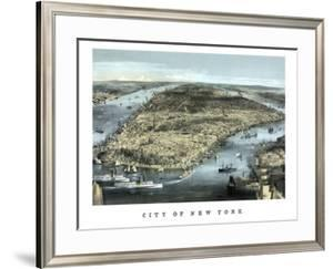 Cityscape View of New York City, Circa 1850 by Stocktrek Images