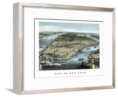 Cityscape View of New York City, Circa 1850