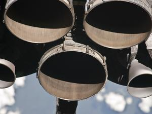 Close-Up View of the Three Main Engines of Space Shuttle Discovery by Stocktrek Images