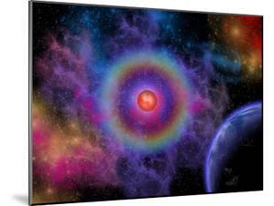 Colorful Emissions are Released from a Distant Star by Stocktrek Images