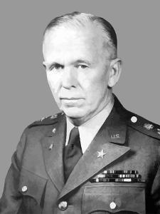 Digitally Restored Vector Portrait of General George Catlett Marshall by Stocktrek Images