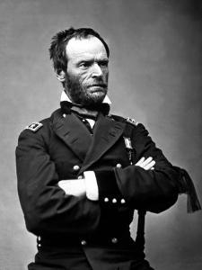 Digitally Restored Vector Portrait of General Sherman by Stocktrek Images