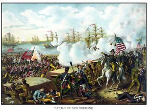 Digitally Restored War of 1812 Print at the Battle of New Orleans by Stocktrek Images