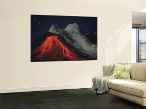 Eruption of Natrocarbonatite Lava Flows from Hornito at Ol Doinyo Lengai Volcano, Tanzania, Africa by Stocktrek Images
