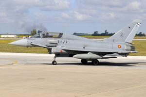 Eurofighter Ef2000 Typhoon of the Spanish Air Force by Stocktrek Images