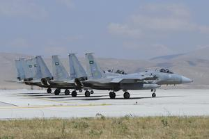 F-15 Eagle's of the Royal Saudi Air Force by Stocktrek Images