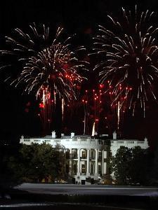 Fireworks Explode Over the White House by Stocktrek Images