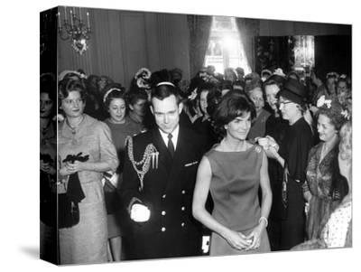 First Lady Jacqueline Kennedy Greets Guests before a Reception