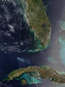 Florida and Cuba by Stocktrek Images