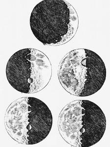 Galileo's Drawings of the Phases of the Moon by Stocktrek Images