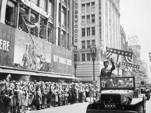 General George Patton During a Ticker Tape Parade by Stocktrek Images