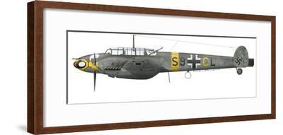 Illustration of a Messerschmitt Bf-110D of the German Air Force