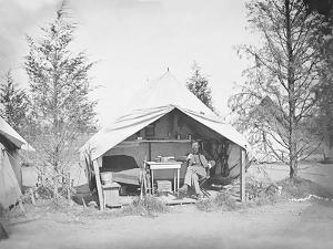 Lieutenant James B. Neill Sitting Inside His Tent During the American Civil War by Stocktrek Images