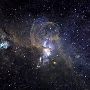 Loops of NGC 3576 by Stocktrek Images