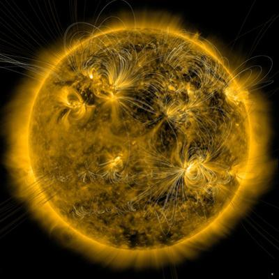 Magnetic Field Lines on the Sun by Stocktrek Images