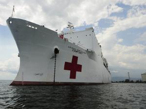 Military Sealift Command Hospital Ship Usns Comfort at Port by Stocktrek Images