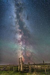 Milky Way over an Old Ranch Corral by Stocktrek Images