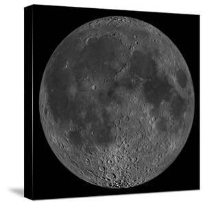 Mosaic of the Lunar Nearside by Stocktrek Images