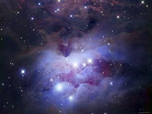 NGC 1977 is a Reflection Nebula Northeast of the Orion Nebula by Stocktrek Images
