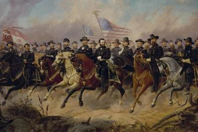 Painting of Ulysses S. Grant and His Generals by Ole Peter Hansen Balling