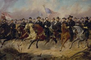 Painting of Ulysses S. Grant and His Generals by Ole Peter Hansen Balling by Stocktrek Images