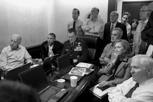 President Obama and His National Security Team in the White House Situation Room by Stocktrek Images