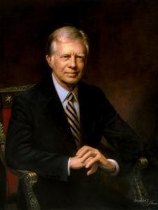 Presidential Portrait of Jimmy Carter by Stocktrek Images