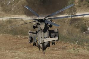 Rear View of an Israeli Air Force Ch-53 Yasur Helicopter by Stocktrek Images
