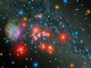 Red Super Giant Cluster by Stocktrek Images