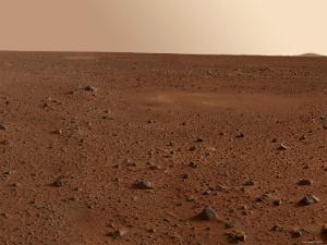 Rocky Surface of Mars by Stocktrek Images
