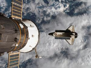 Space Shuttle Atlantis After It Undocked from the International Space Station on June 19, 2007 by Stocktrek Images