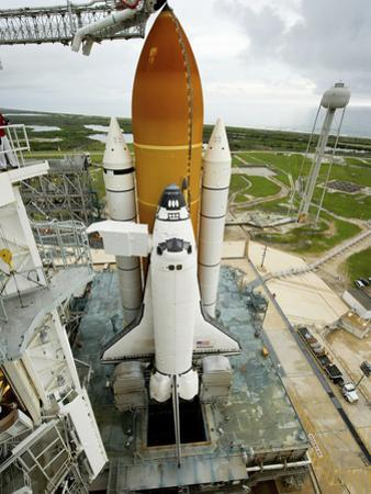 Space Shuttle Atlantis on the Launch Pad at Kennedy Space Center, Florida by Stocktrek Images