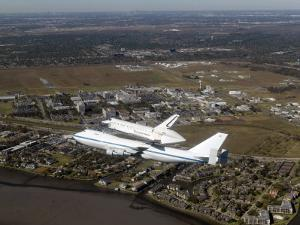 Space Shuttle Endeavour Mounted on a Modified Boeing 747 Shuttle Carrier Aircraft by Stocktrek Images