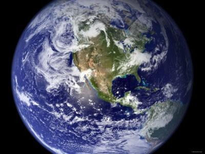 Spectacular Detailed True-Color Image of the Earth Showing the Western Hemisphere