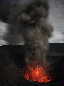 Strombolian Eruption of Mount Bromo Volcano, Tengger Caldera, Java, Indonesia by Stocktrek Images