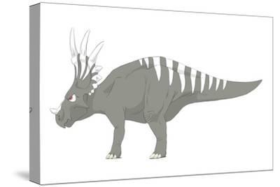 Styracosaurus Pencil Drawing with Digital Color