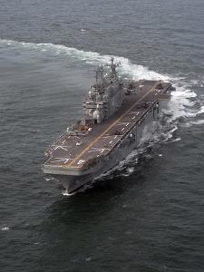 The Amphibious Assault Ship USS Nassau by Stocktrek Images