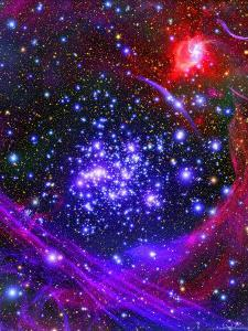 The Arches Star Cluster from Deep Inside the Hub of Our Milky Way Galaxy by Stocktrek Images