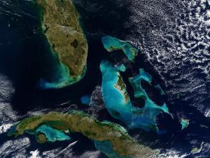 The Bahamas, Florida, and Cuba by Stocktrek Images