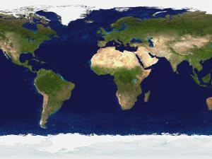 The Blue Marble: Land Surface, Ocean Color and Sea Ice by Stocktrek Images