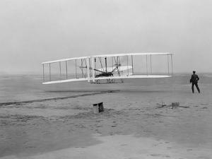 The First Flight of the Wright Flyer in 1903 by Stocktrek Images