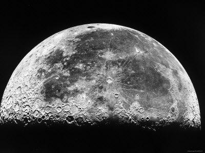 THE MOON photograph Illustration Art Print Poster Space Picture
