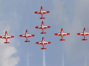 The Snowbirds 431 Air Demonstration Squadron of the Royal Canadian Air Force by Stocktrek Images